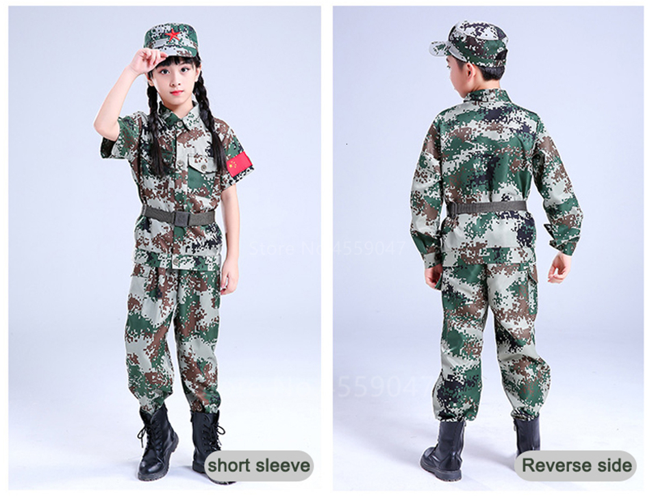 Children Camouflage Tactical Uniforms Hunting Set Men Military Clothing Combat Jackets Pants Kids Army Clothes Cosplay Costumes