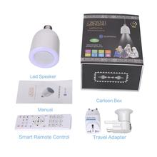 Sq-501P Smart Speaker 6000K Color Led Lamp Speaker Remote Control Mp3 Music Speaker Lamp 60W With 2 Travel Adpater(China)