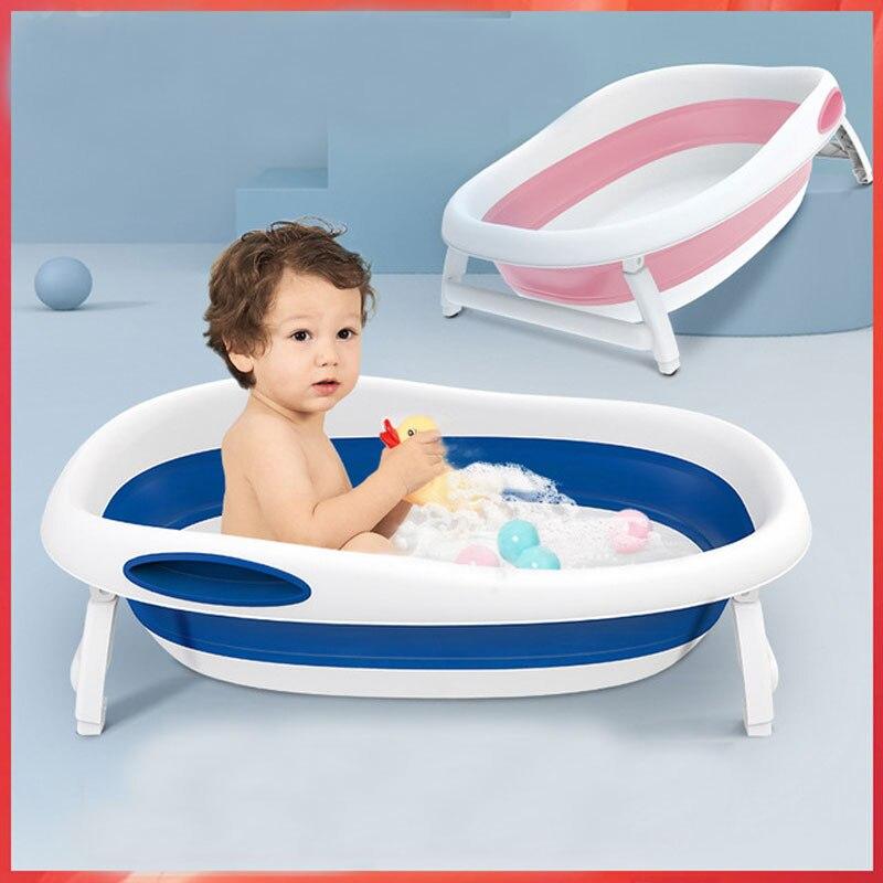 Baby Bath Tub In Baby Tub Portable Folding Large Size Anti-Slip Bottom Non-Toxic Material Children Bathtub Bucket Baby Bathing