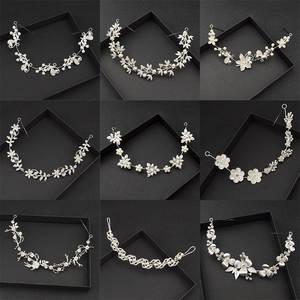 Jewelry Tiara Hair-Accessories Pearl-Headband Wedding-Headdress Variety Bride Handmade
