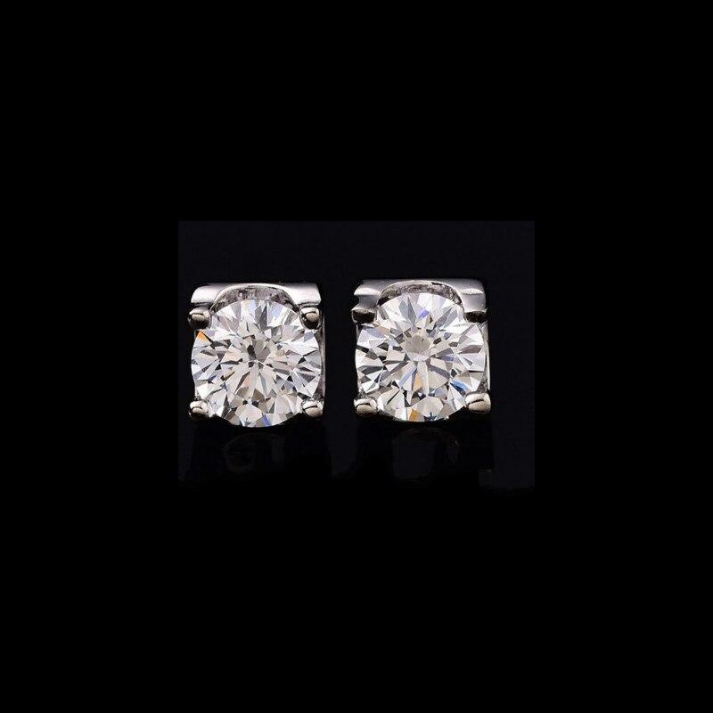 Naturel Moissanite D couleur boucles d'oreilles pour femmes Vvs rond 0.5ct 1ct S925 en argent Sterling boucle d'oreille Fine bijoux