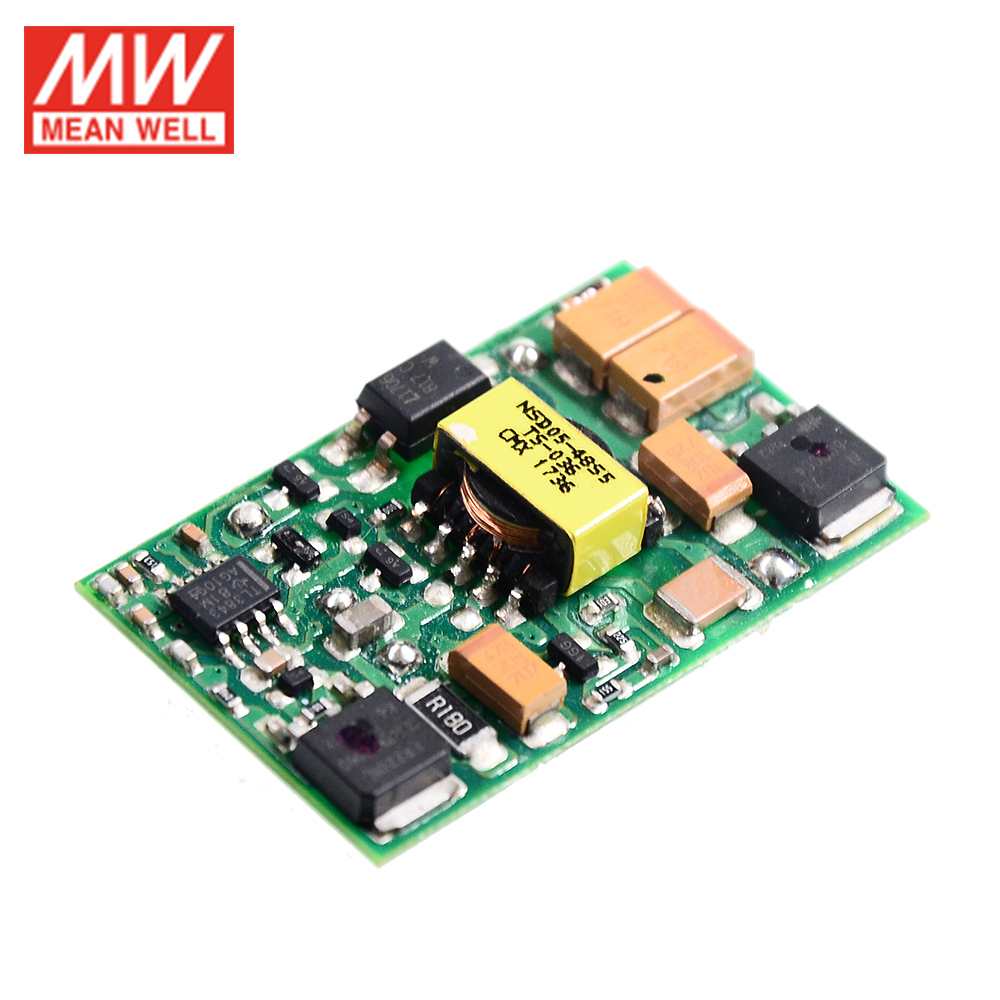 Задний Регулируемый преобразователь MEAN WELL NSD05-12S12, входной преобразователь от 9,2-36 в до 12 В постоянного тока, а, 5 Вт, модуль импульсного источн...