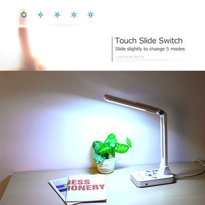 Image 2 - Esnek masa lambası 1800mAh şarj edilebilir lambaları masa 30 adet Led masa lambası 5 mod karartma dokunmatik ofis iş Led masa lambası