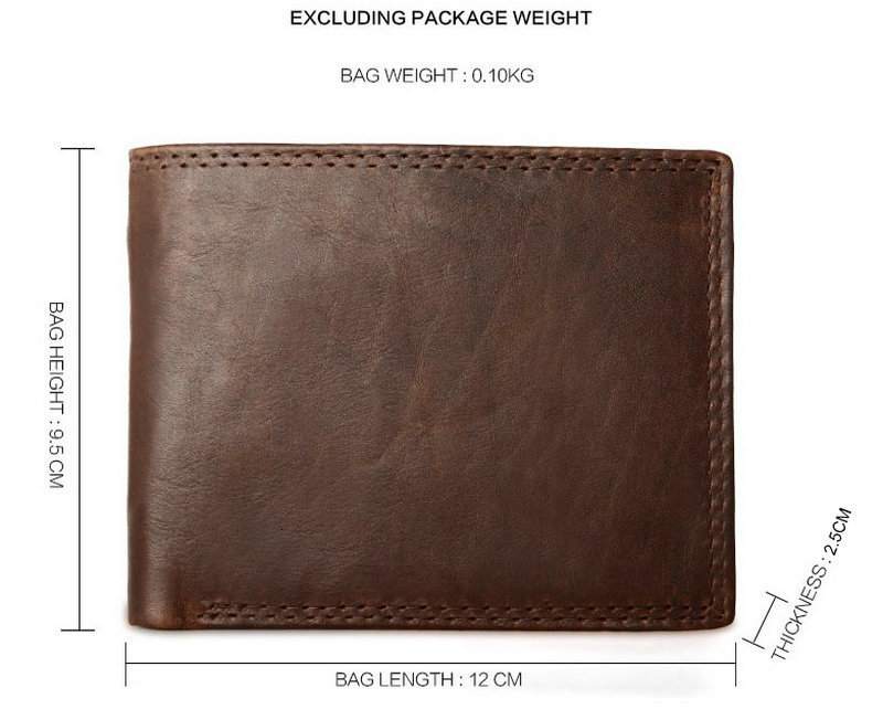 H5c2ab8139b9a4979bfa6909c285e2a25p - GENODERN Cow Leather Men Wallets with Coin Pocket Vintage Male Purse Function Brown Genuine Leather Men Wallet with Card Holders