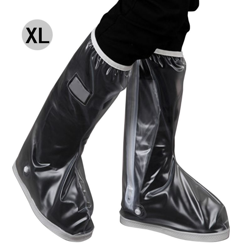 Waterproof Rain Boots Black Protective Overshoes Clear Road Bike Shoe Cover Protector Foe School, Farm, Garden, Park