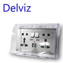 Delviz Великобритания Стандартный переключатель гнездо защитный ящик пылезащитный чехол для розетки Прямоугольный переключатель коробка Бытовая водонепроницаемая крышка коробка