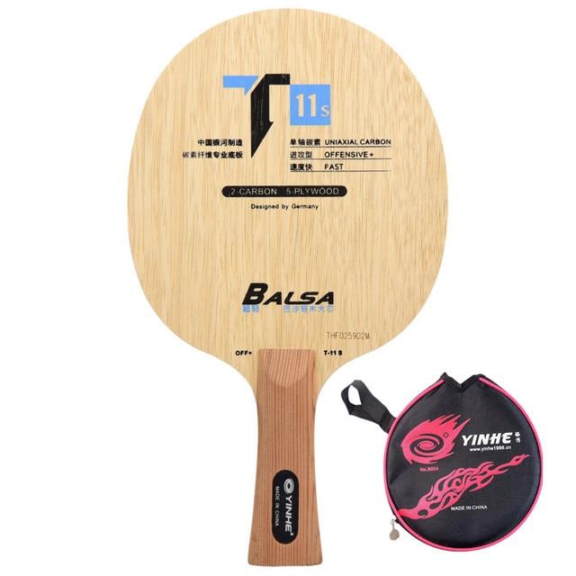 Yinhe T11 T 11 + T11 + מתפרצת לולאה פחמן Limba Balsa OFF להב טניס שולחן מחבט
