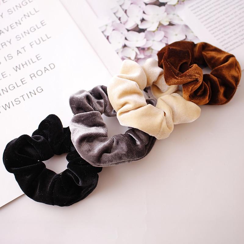 Solid Color Headband Hair Hoop Girl's Hair Ring Elastic Flannel Hair Band Hair Accessories Headgear