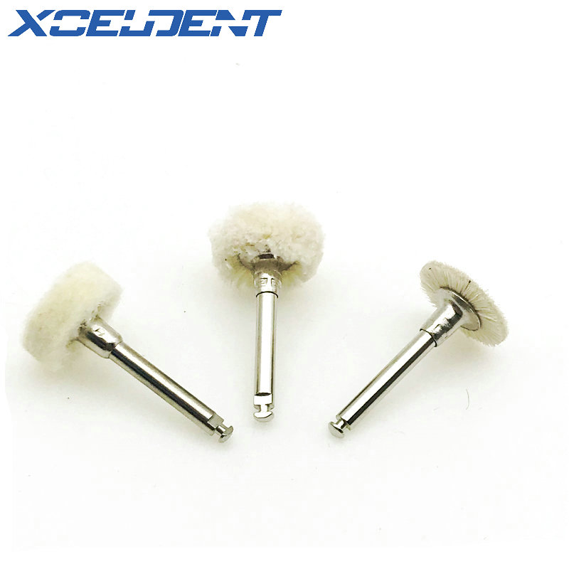 1Pc Grinding Buffing Dental Wool Polishing Flat Brush Grinder Brushes For Low Speed Handpiece Machine Accessories