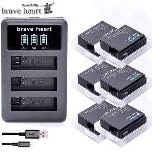 Image 1 - Bateria Gopro גיבור 4 hero4 סוללה + LED 3 חריצי USB מטען עבור GoPro HERO4 שחור/כסף/לבן פעולה מצלמה אבזרים