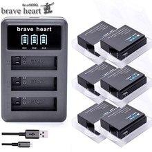 Bateria gopro hero 4 hero 4 bateria + led 3 slots carregador usb para gopro hero 4 preto/prata/branco acessórios da câmera de ação
