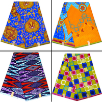 Top seller African 100 % polyester material dress wax prints fabrics Africa Ankara java wax fabric for wholesale price!DF 1525