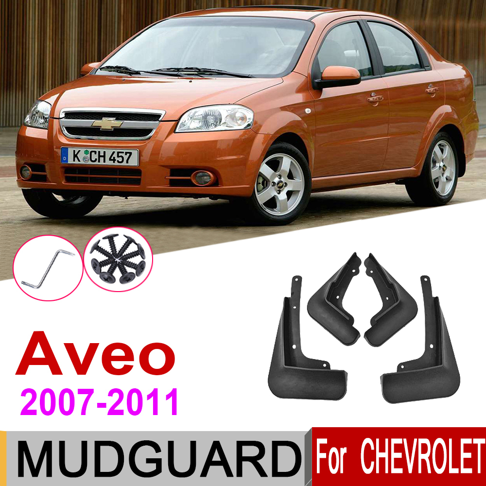 Mudguards For Chevrolet <font><b>Aveo</b></font> Sean Saloon <font><b>T250</b></font> 2011~2007 Fender Front Rear Mud Flaps Guard Splash Car Accessories 2008 2009 image