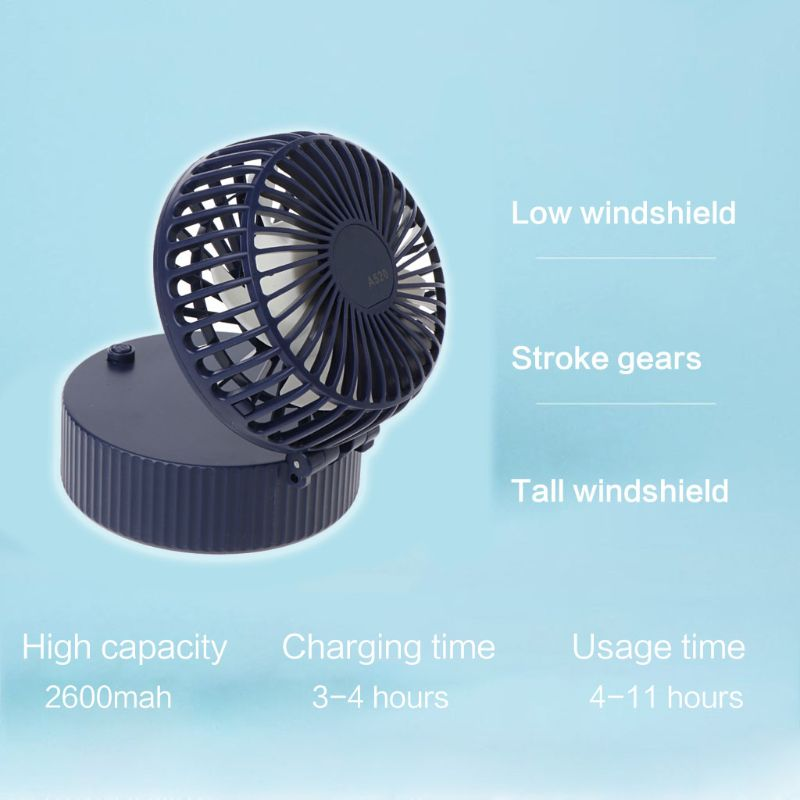 Image 3 - Mini Portable Folding Handheld Necklace Fan USB Charging Cooling Electric Mirror Fan for Home Office Desktop Outdoor Accessories-in USB Gadgets from Computer & Office