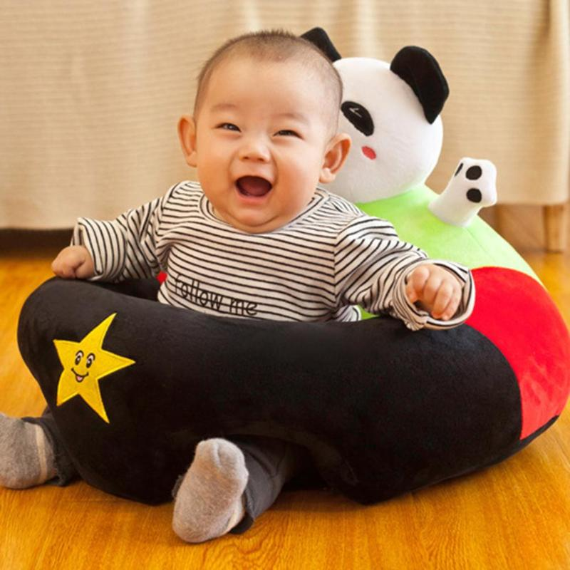 Infant Baby Seat Sofa Cover Anti-fall No Filling Cartoon Seat Children Chair Suitable Age Sitting-in Period 0-3 Years Old