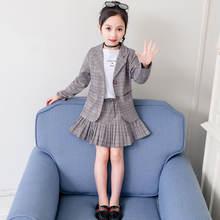 Школьная клетчатая юбка + пиджак в японском стиле одежда для