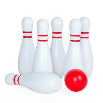 1 Set Children Bowling Ball Set Wooden Bowling Games Toy Smooth Bowling