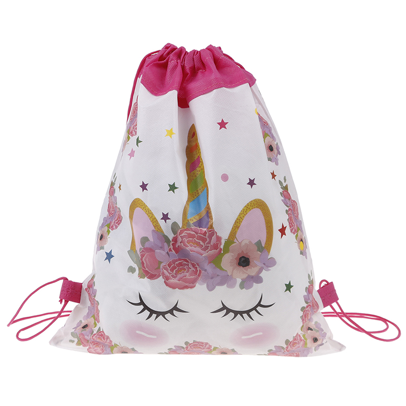 Unicorn Birthday Party Drawstring Bag Gift Bag For Gifts Party Decoration For First Birthday Girl Party Kids Favor