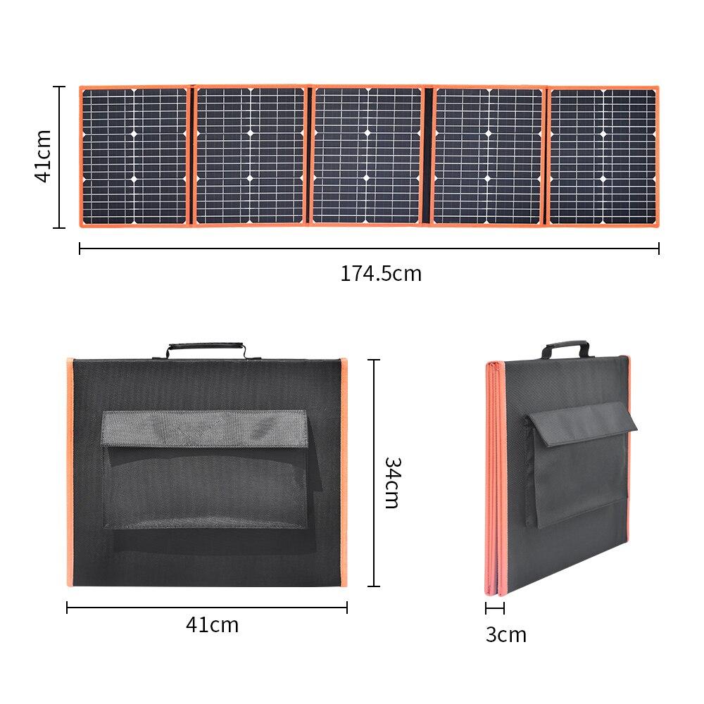 100w 80w 80w monocristalino painel solar dobrável