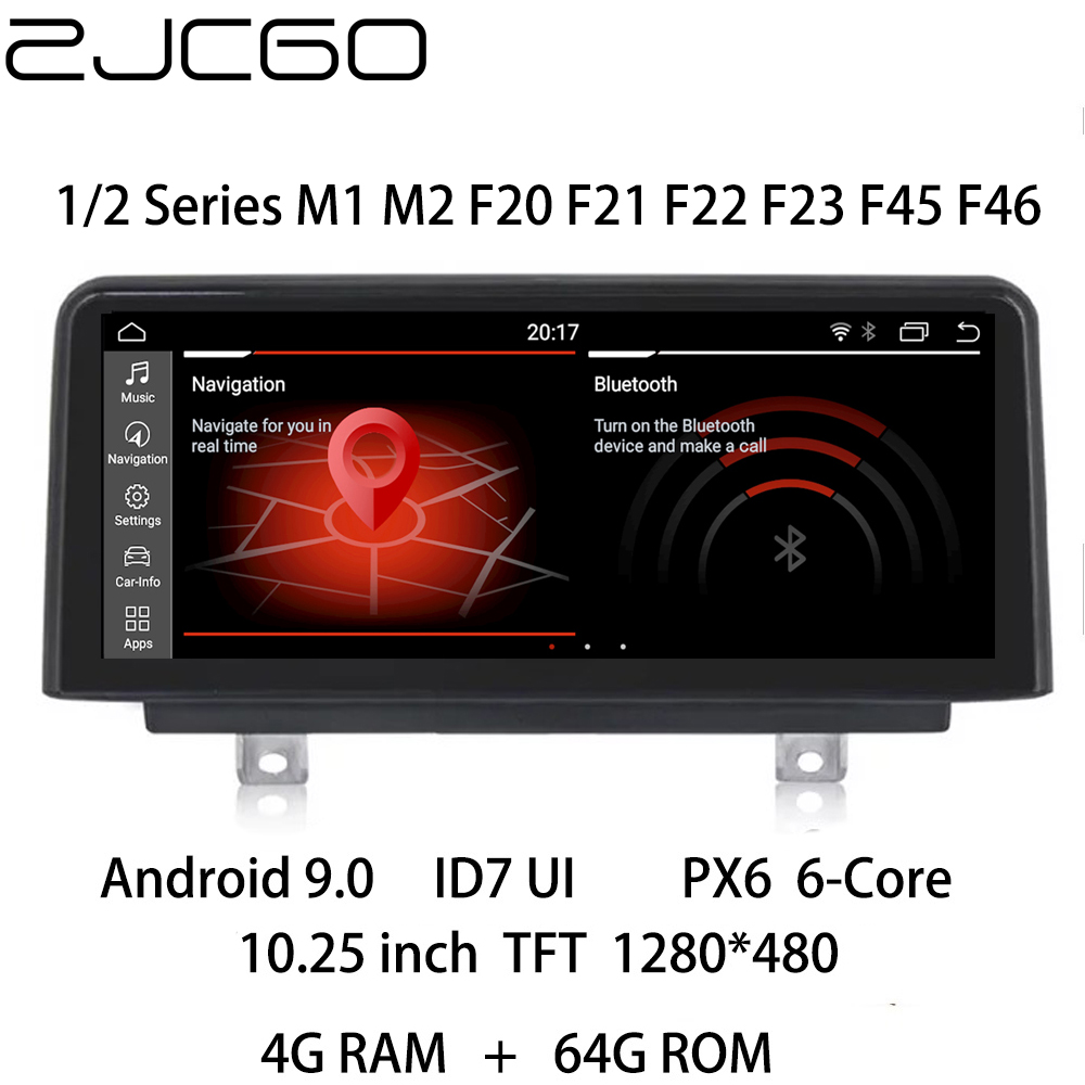 Car Multimedia Player Stereo GPS DVD Radio Navigation NAVI <font><b>Android</b></font> CIC NBT EVO for <font><b>BMW</b></font> 1 2 Series M1 M2 <font><b>F20</b></font> F21 F22 F23 F45 F46 image