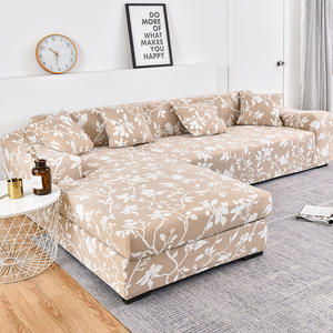 Sofa-Cover Chaise Pets-Corner Elastic Living-Room L-Shaped Cotton for Longue Cubre Strip-Pattern