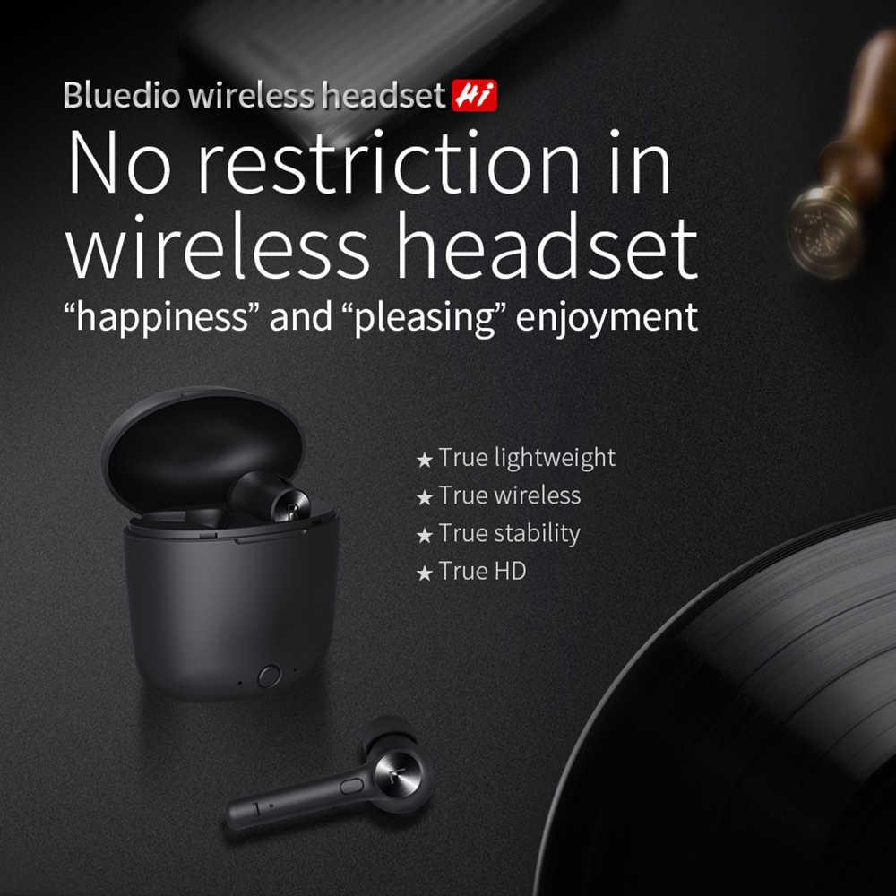2019 新加入業 Bluedio ハイ TWS ブラック共通 Soprt インイヤーワイヤレスイヤホンハイファイ電話ゲームイヤホン