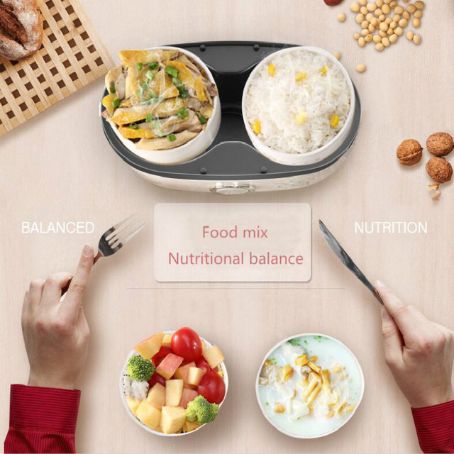 2019 Electric Lunch Box Small Lunch Box Rice Cooker Cooking Appliance Thermal Lunch Box Hot Dish Cooking Rice Hot Rice Cooker Appliances