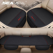 Flax Car Seat Cover Custom Made SEAMETAL Automobiles Seat Covers Set Universal Protector Seat Cushion Mat Auto Goods Accessories