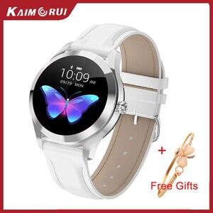 Image 1 - KW10 KW20スマート腕時計女性IP68防水腕時計心拍数モニターbluetoothスポーツフィットネスブレスレットアンドロイドios用