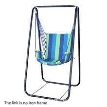 Moda yurt butik plaj hamak yetişkin çocuk lunapark salıncağı 7 renk tuval asılı sandalye + rahat sünger en iyi hediye