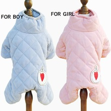Winter Pet jumpsuit Teddy Poodle Small dog clothes puppy clothing belly design warm coat overall