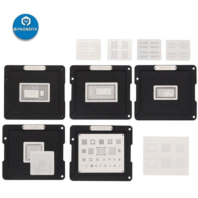 DS 908 kit de ferramentas de solda para mackbook bga reballing estêncil conjunto para todos os chips bga de macbook ar/pro macbook 2010 2018