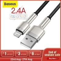Baseus-Cable USB 2.4A para iphone 12 Pro Max, Cable de carga rápida tipo C, datos de Metal para teléfono móvil