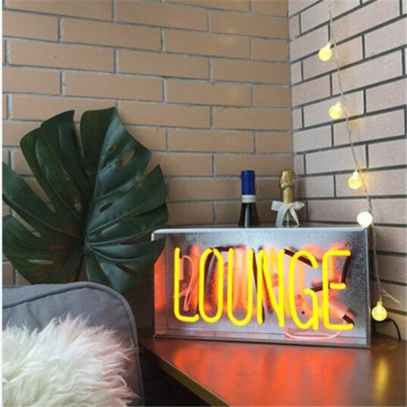 Accepter rétro personnalisé néon boîte signe Tube lumière vrai verre à la main néon éclairage pour Bar café Pub décor éclairage AC110V 220V