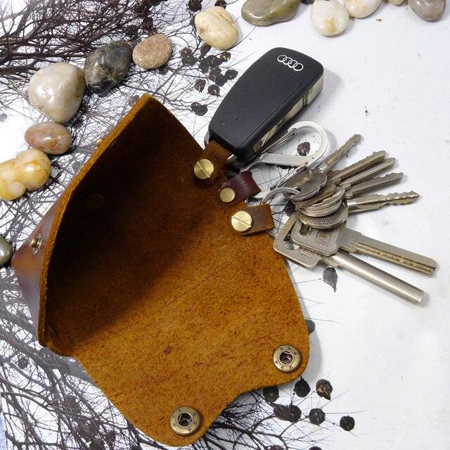 Blongk натуральная кожа большой объем органайзер для ключей чехол для ключей с держателем для карт на талии для мужчин и женщин 1MK