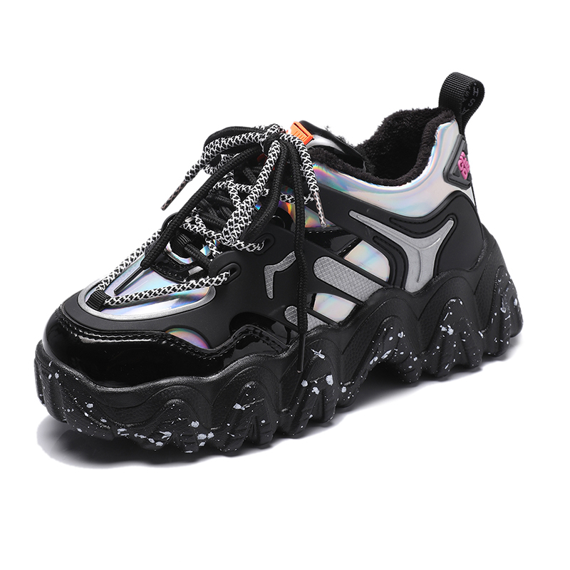 Spring Woman Chunky Platform Sneakers 2020 New Ulzzang Fashion Lace Up Trainers High Quality Tenis Female Old Dad Casual Shoes 6