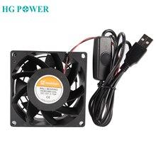 Silent PC Computer Desktop CPU Cooler 12V DC Laptop Projector Router Blowbox USB Adjustable Cooler Fan Black 5025 8038 Model