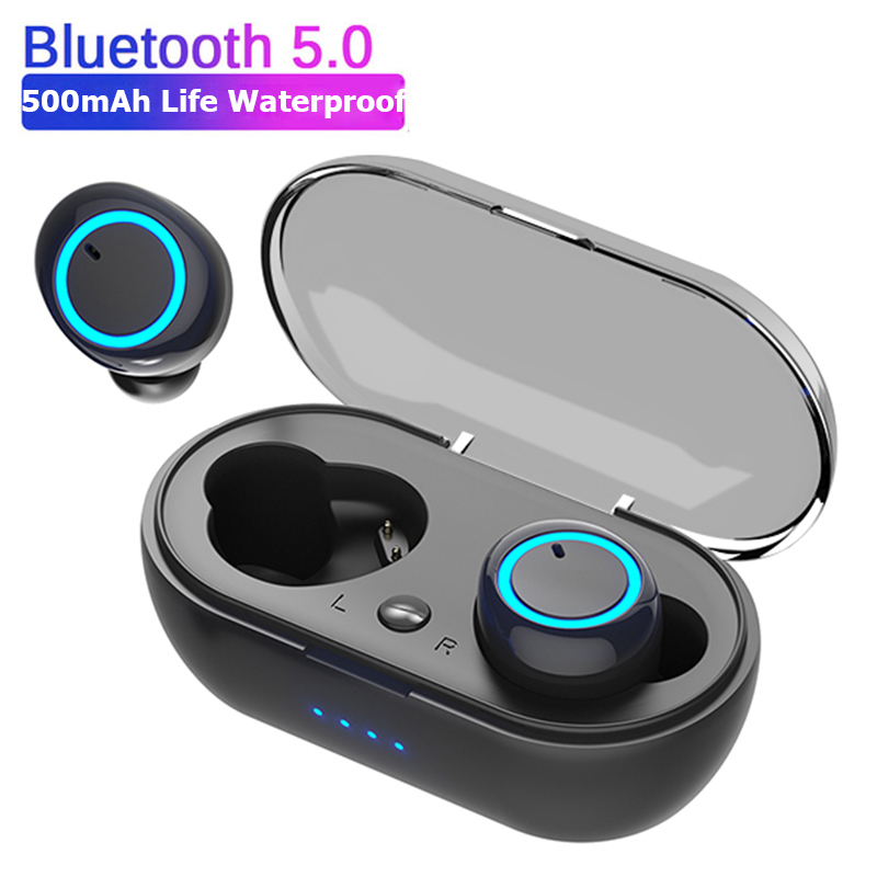 D10 TWS Bluetooth Earphones Fingerprint Touch Wireless Earbuds HD Stereo Wireless Headphones Noise Cancelling Gaming Headset
