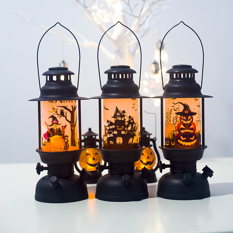 Creative Led Lantern Simulation Flame Light Small Oil Lamp Bar Festival Halloween Lamp For Indoors Shopping Mall Decoration