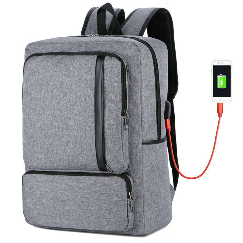 Computer Laptop Bag USB Charging Notebook Backpack Leisure Business Mens Waterproof Oxford Large Capacity Travel Bags