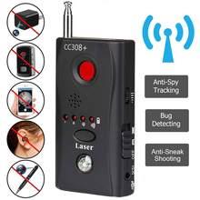O anti localizador escondido do sinal de gsm gps do detector de bug da lente da câmera o rastreador do rf multi-função detecta produtos sem fio 1mhz-6500mhz