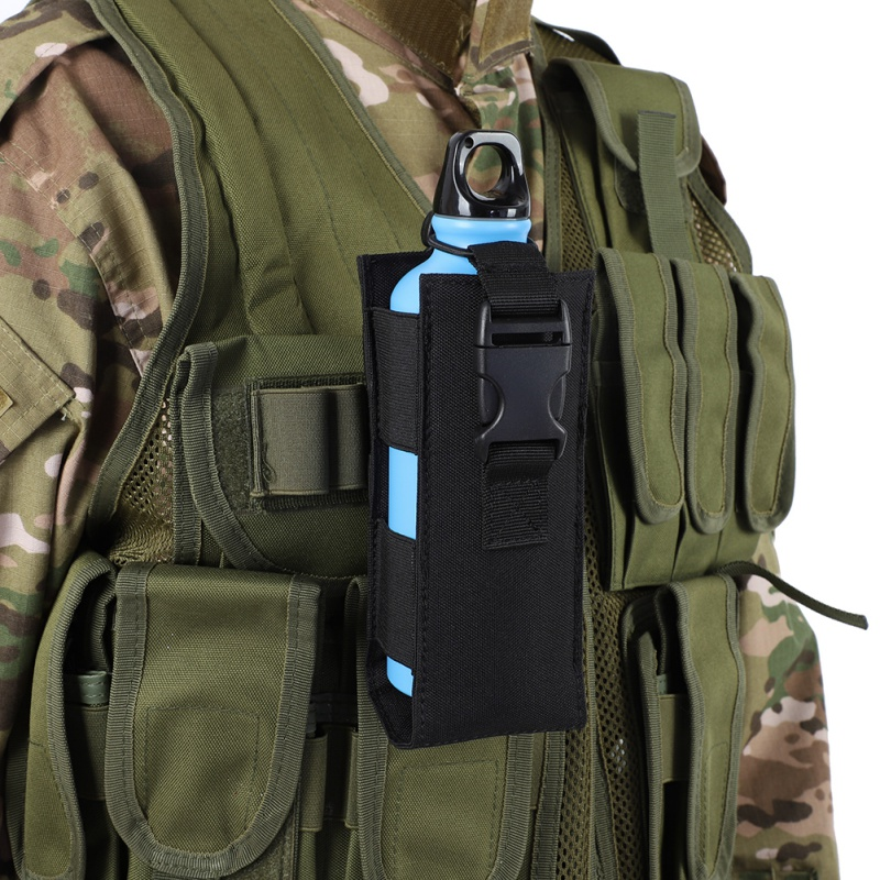 Outdoor Sports Water Bottle Bag Military Hiking Belt Holder Kettle Pouch Cover