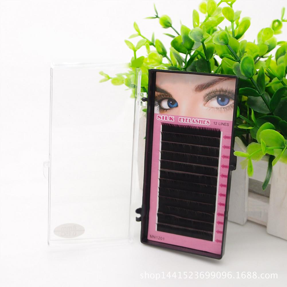 1 caja práctica de moda para mujer, juego de maquillaje de ojos naturales, extensión hecha a mano, pestañas postizas gruesas, maquillaje de ojos, pestañas postizas