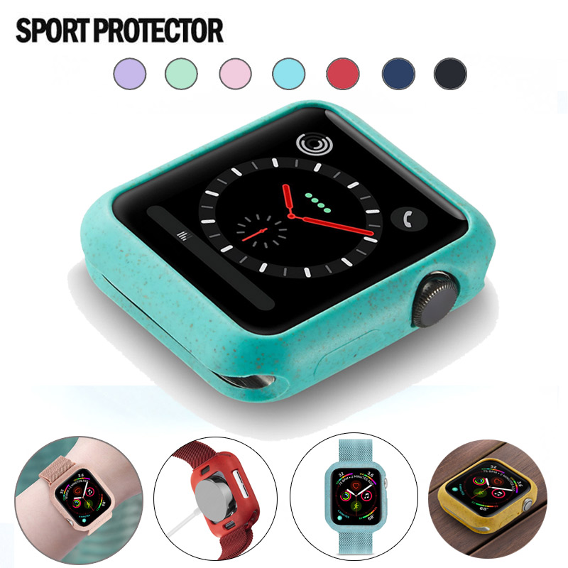 Candy Soft Silicone Case For Apple Watch 5 40MM 744   44MM Cover Protection Shell For IWatch 4 5 40MM 44MM Watch Bumper
