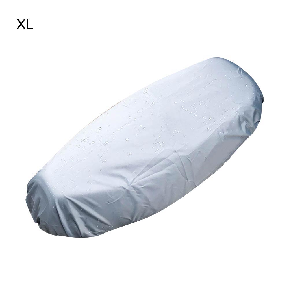 XL KKmoon Universal Motorcycle Sunscreen Seat Cover Cap Waterproof /& Dustproof Scooter Cushion Cover Seat Scooter Sun Pad Protector Silver