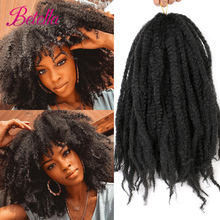 Betella Hair Synthetic Marley Braids Hair Afro Kinky Curly Crochet Braiding Hair Extensions Synthetic Marley Braiding Hair cheap High Temperature Fiber CN(Origin) 1strands pack Ombre
