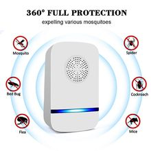 Household Pest Rejector Ultrasonic Mosquito Repellent Control Repellents For Rats Spiders Flies Electronic Repeller