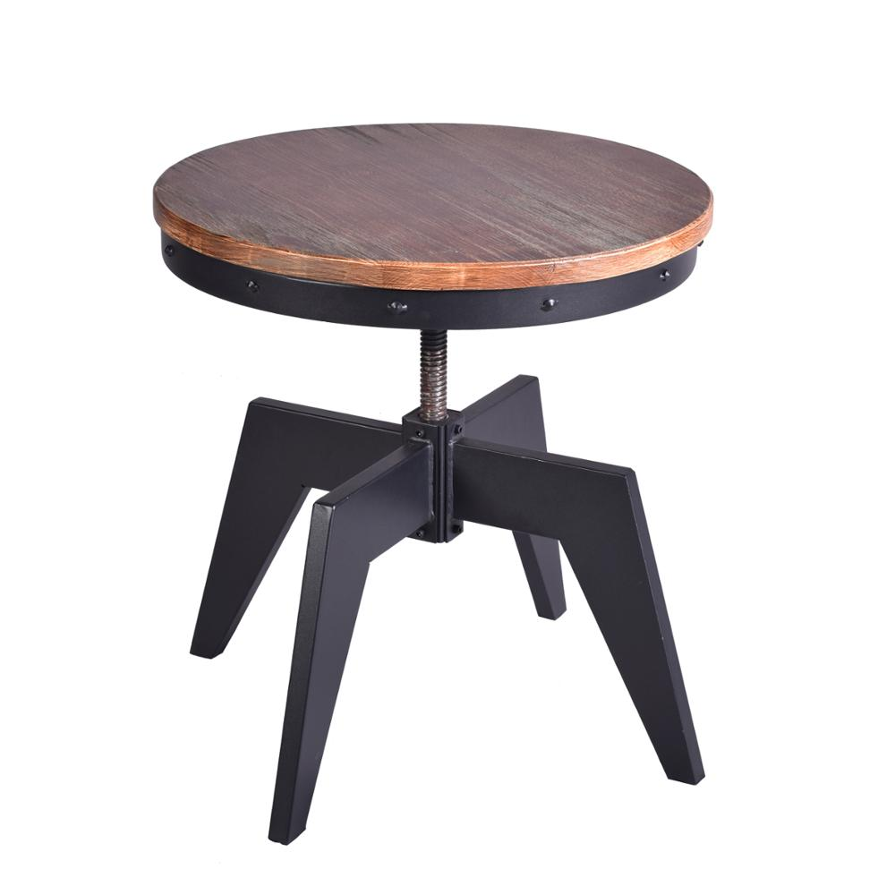 Industrial Coffee Table For Living Room Swivel Round Wood Top With Sturdy Metal Frame Side Table Kitchen Dining Tea Table Coffee Tables Aliexpress
