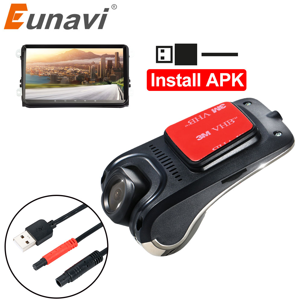 USB DVR Carro Para Android Car Radio Player HD 720P 140 Graus de Largura Ângulo de Câmera Dianteira Do Carro Gravador de Vídeo traço Câmera Com ADAS
