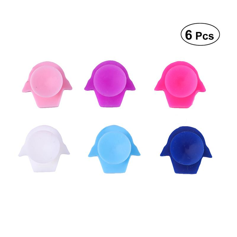 6 Pcs Silicone Red Wine Glass Marker Creative Smiling Sticker Sucker Mark Glass Identification Cup Labels Tag Signs For Parties